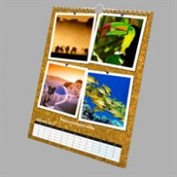 A4 collage calendar