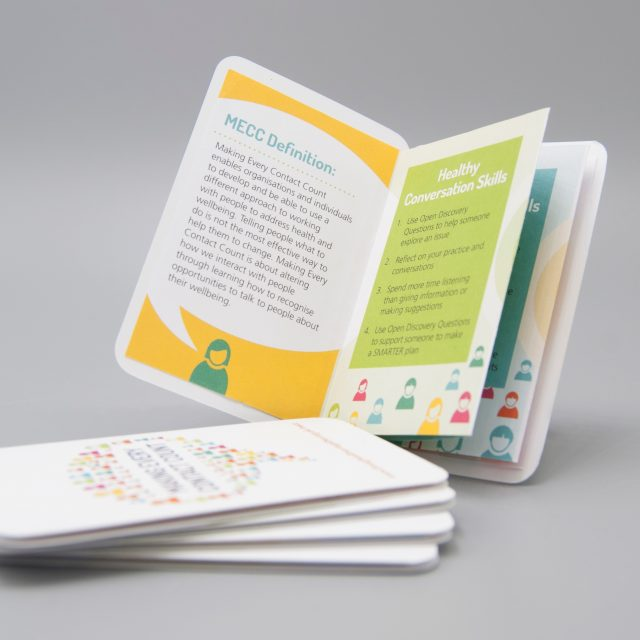 Pocket Leaftets with die cut beveled corners