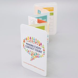 Die Cut, Concertina Fold, Pocket Leaflet