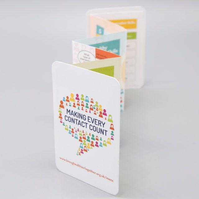 Die Cut, Concertina Fold, Pocket Leaflet